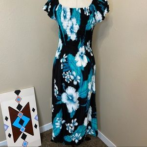 Floral Hawaiian Dress One Size